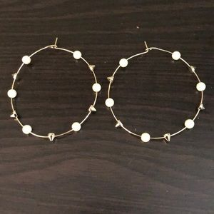 Pearl Spike Hoops
